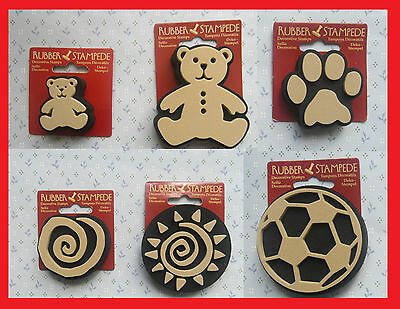 Football, swirl, sun, paw print, Large/small teddy RUBBER STAMPS DECORATIVE  (3)