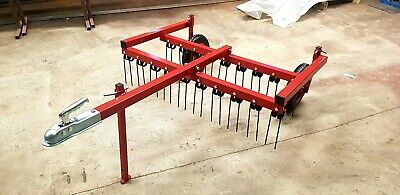 4ft spring tine grass harrow, chain harrow