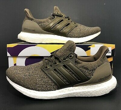 796443d35 Adidas Ultra Boost 3.0 Trace Olive Khaki Cargo Leather Cage S82018 M Size  8.5