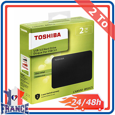 "Disque dur Externe 2,5"" USB 3.0 2.0 Toshiba PC Portable Mac PS4 XBOX One 2To"