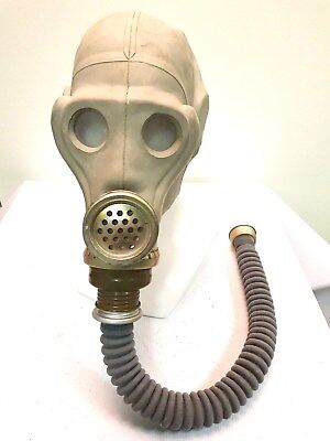 Authentic Soviet Russian GAS MASK ShMS grey DIRTY Genuine Vintage gift USSR