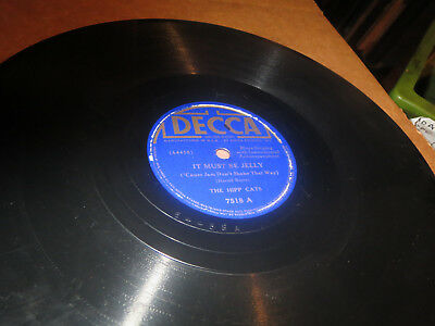 78RPM Decca 7518 The Hipp Cats + Norris, Must B Jelly / Chippin Rock Blues V dig