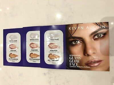 Kevyn Aucoin Glass Glow Face - CRYSTAL CLEAR, PRISM ROSE, BRONZE - 3 SAMPLE PACK