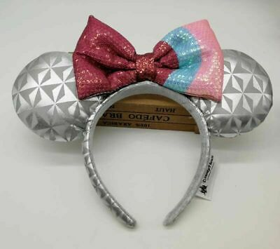 Disney Parks Minnie Mouse Headband Ears Epcot Bubble Gum Spaceship Costume Bow
