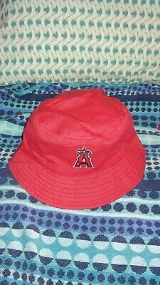 LA Angels Red Reversible to Blue Floppy Hat Free Shipping!