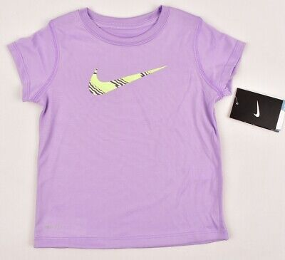 NIKE Girls' Kids' DRI-FIT T-shirt / Top, Lilac, sizes 4 to 6 Years