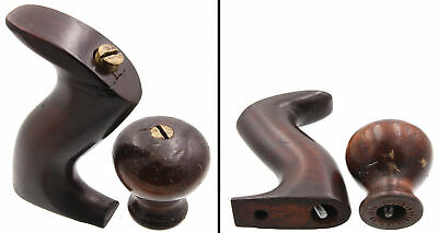 Orig. Rosewood Handle and Knob for Steers Patent No. 305 Plane - mjdtoolparts