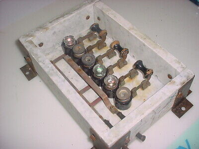 Antique Architectural Salvage Marble Electrical Panel with Copper Circuits