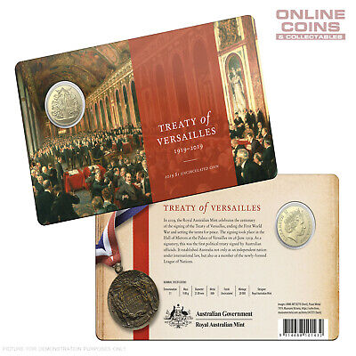 2019 RAM $1 Uncirculated Coin In Card - Centenary of the Treaty of Versailles