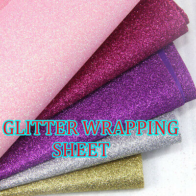 Fine Glitter  Sheets Shimmer Colours Material for Gift Wrapping