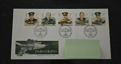 1986 First Day Cover History of The Royal Air Force SHS Bureau Postmark (cbc)