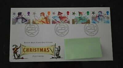 1985 First Day Cover Christmas Pantomime Characters SHS Bureau Postmark (cbc)