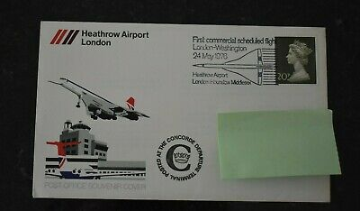 1976 FDC Heathrow Airport SHS London Postmark , Posted At Concorde Terminal