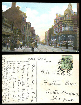 Antique Postcard~Stourbridge High Street~Dudley/West Midlands/Worcestershire #6
