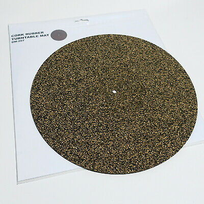 Anti-Static Cork Rubber Turntable Mat 295mm Diameter 3mm Thick NEW