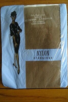 Nylon Stockings 30 Denier Fully Fashioned Size 2