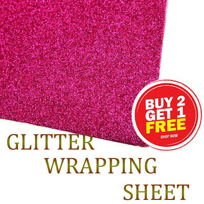 Glitter Felt Sparkling  Wedding Craft Large 69 cm x 49 cm sheet For gift wrap