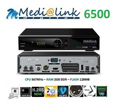 Decoder Medialink combo  ML6500 Multimedia Iptv S/S2 T/T2 Cable wifi inclusa