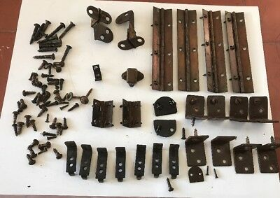 Vintage Singer Sewing Machine Treadle Table/cabinet Hinges And Other Parts