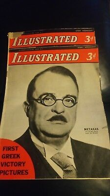 Illustrated Magazine -January 1941 ~ 2 issues - Vintage Collectable, historical