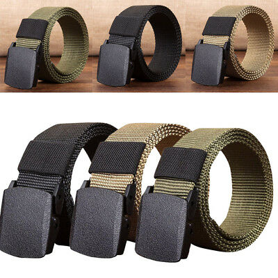 Fashion Men Outdoor Sports Military Tactical Nylon Waistband Canvas Web Belt NEW