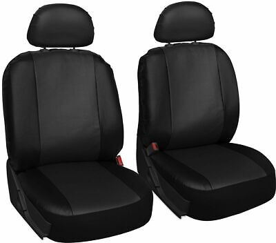 Pair of Front GREY /& BLACK Leatherette Car Seat Covers MERCEDES GLA-CLASS AMG