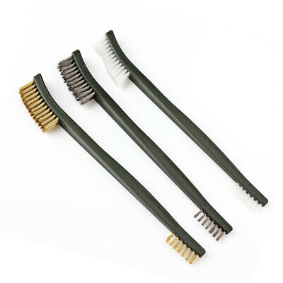 3pcs 7'' Cleaning Tool w/ Brass Brush Double Ended Wire Brush Tool for Gun Rifle