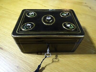 Antique Tahan French Ebonised Napoleon III Box  (286)