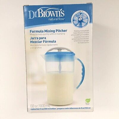 Dr Brown's Natural Flow Formula Mixing Pitcher 32 Oz BPA Free NEW in BOX