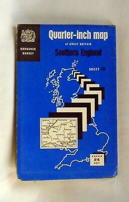 OS map SOUTHERN ENGLAND sheet 16 - Vintage 1967