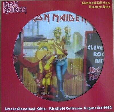 IRON MAIDEN-Live In Cleveland,Ohio 1982 PICTURE DISC