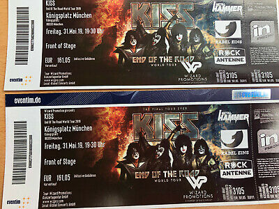 "KISS ""End of the Road"" München FRONT OF STAGE - 2 Karten - ORIGINALPREIS"