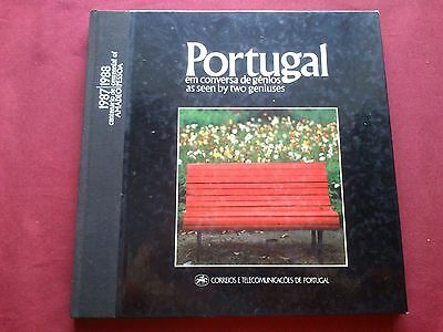 Rare 1987/88 Portugal As Seen By Two Geniuses Amadeo/Pessoa Ctt  Stamps Book