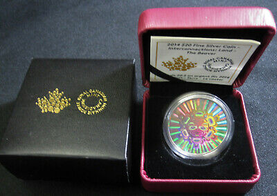 2014 Land - The Beaver - Interconnections Hologram Proof $20 Silver Coin