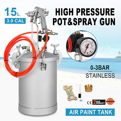 4 Gallon 3.0mm High Pressure Pot Paint Sprayer Commercial with Spray Gun Lacquer