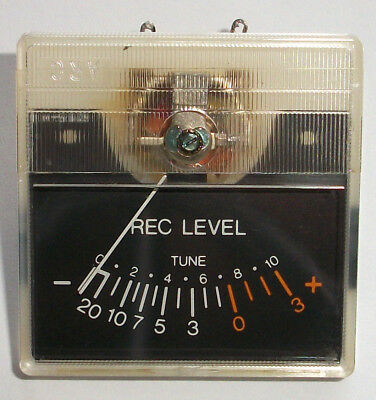 USED EX CASSETTE RECORDER RECORDING LEVEL METER 40mm Square x 20mm DEEP