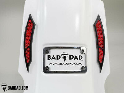 Bad Dad Summit Saddlebag Kit w/ 992 Black Taillights & Chrome Plate 140mm FLS