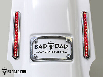Bad Dad Summit Saddlebag Kit w/ 905 Chrome Taillights & Chrome Plate 200mm FLS