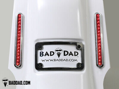 Bad Dad Summit Saddlebag Kit w/ 905 Chrome Taillights & Black Plate 200mm FLS