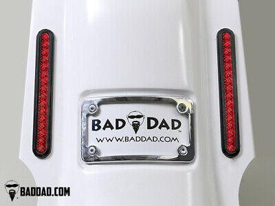 Bad Dad Summit Saddlebag Kit w/ 905 Black Taillights & Chrome Plate 200mm FLS