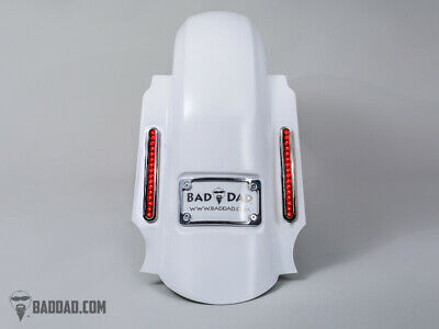 Bad Dad Summit Dual Saddlebag Kit 905 Chrome Taillights & Chrome Plate 14+ FL