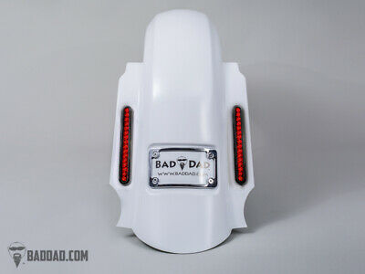 Bad Dad Summit Dual Saddlebag Kit 905 Black Taillights & Chrome Plate 14+ FL