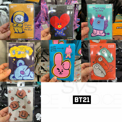 BTS BT21 Official Authentic Goods Passport Case 7Characters By LINE FRIENDS