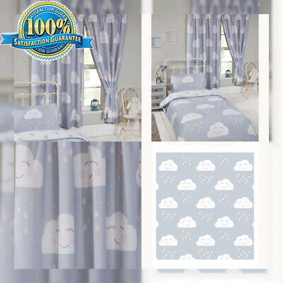 PriceRightHome Happy Clouds Plisadas Cortinas 66 x 72 in (168 x 183 cm)