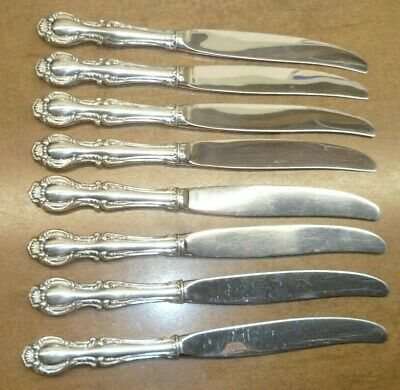 """Northumbria Cello Sterling Silver Place Knife - Excellent Condition 8 3/4"""""""