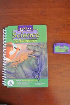LeapFrog Science The World of Dinosaurs BOOK & CARTRIDGE Cart Leap Frog