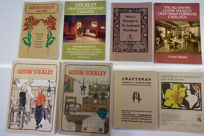 Gustav Stickley catalogs - an excellent set of eight different catalogs