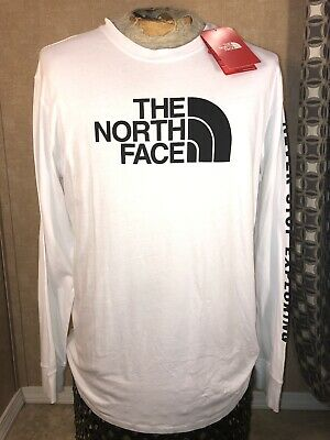 0e8e98a85 THE NORTH FACE Never Stop Exploring Red Long Sleeve T-Shirt XL big ...