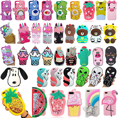 X/8/7/6/6S Plus Phone Case For Apple iPhone Bear Cherry Potion Pink Accessories