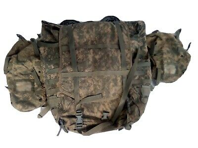 Surplus Military Backpack ACU Molle II lightweight Pack With Frame & 2 pouches